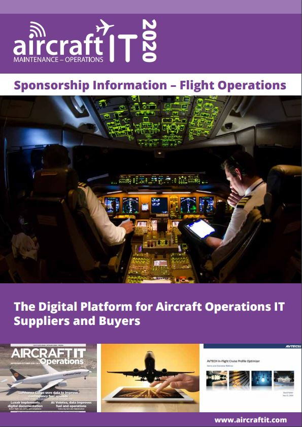 Aircraft IT Flight Ops sponsorship front cover